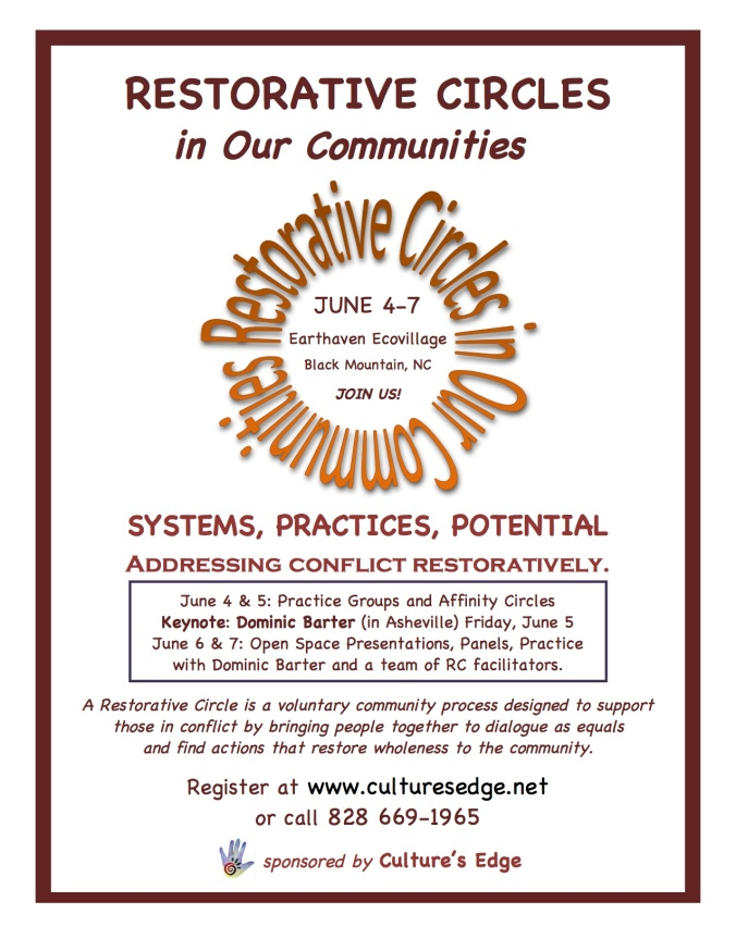 Earthhaven RJ Conference June 4-7, 2015